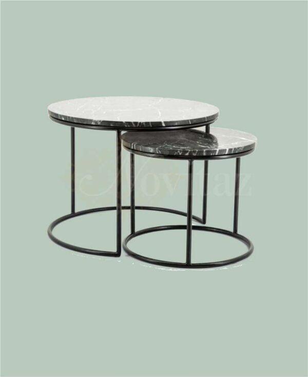 Marmer-salontafel-set
