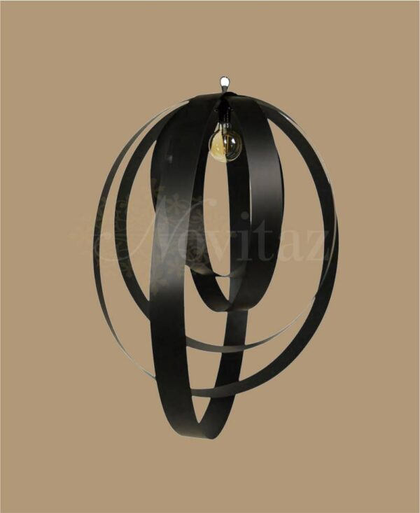 Hanglamp 5 rings bronze