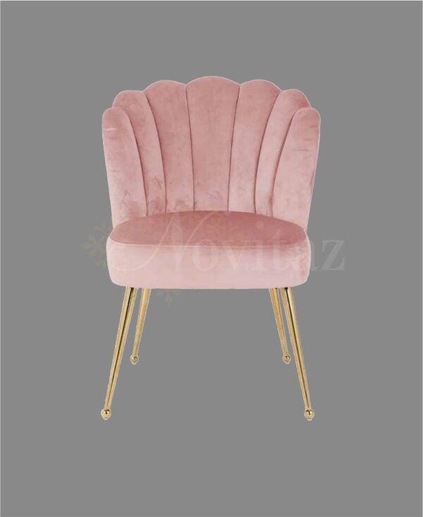 Stoel-pippa-pink velvet